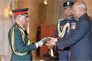nepal army chief to be conferred honorary rank of  general of indian