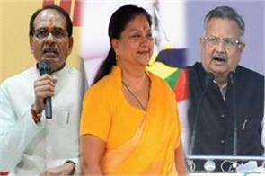 shivraj vasundhara and raman singh joined amit shah s team