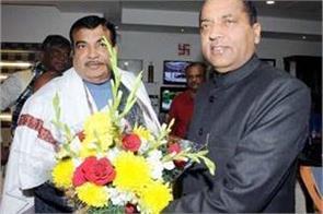 cm jairam met from nitin gadkari in delhi