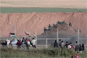 24 palestinians injured in violent clashes in gaza