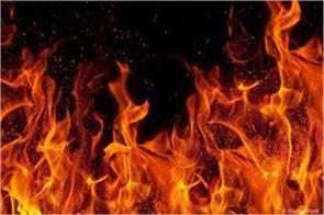 fire gutted to motorbike in samba