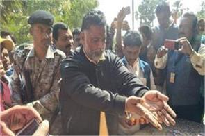 pappu yadav met from the family of martyr sanjay