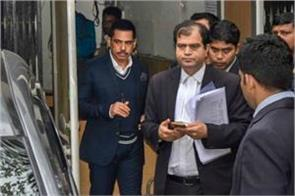 illegal property case robert vadra appeared in front of ed for 5th time