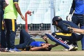 ashok dinda injured while he catching a catch on his own ball
