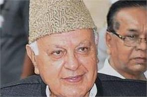 farooq abdullah discusses the situation of kashmir with rajnath