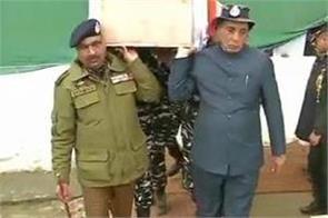 pulwama terror attack rajnath singh to visit srinagar