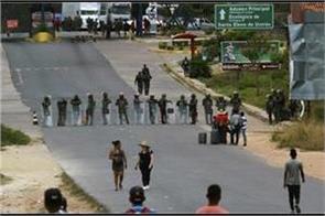 venezuela crisis government closed colombia border points