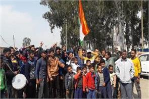 celebration in kathua after air strike on pok