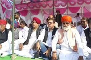 gehlot government gujjars sitting on rail track to demand reservation