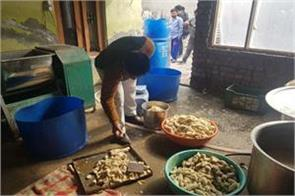 raid by food safety dept in kathua champ sample flled