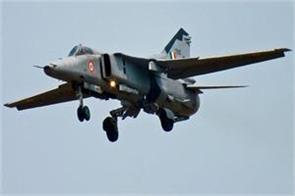 air force fighter aircraft in jaisalmer mig 27 crashes