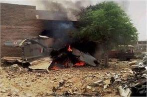 mig 27 fighter plane crashes pilot safe in pokhran rajasthan