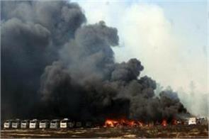 170 cars burnt in chennai due to a fire at the parking place of the vehicle