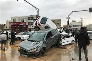 the number of people who died in floods in iran was 19