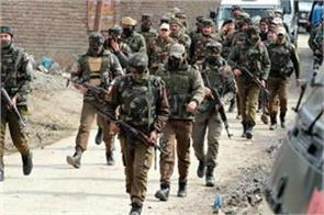 two terrorists killed four jawans injured in the ongoing encounter in budgam