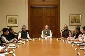 after the announcement of the dates bjp held meeting on manifesto