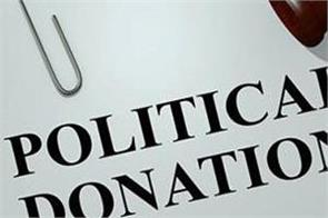 donation of 8721 crores to big parties in 14 years