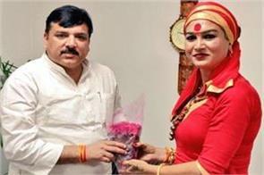 kinnar akhada chief bhavani joins aam admi party