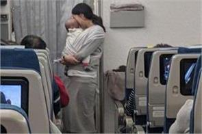 this mothers gesture for co passengers in a flight goes viral on social media