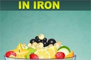 top 5 fruits high in iron