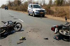 two people died in two separate road accidents in dhanbad