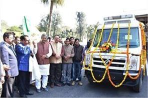 chief minister flagged off heart disease service vehicle
