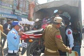 traffic police action against rule breakers