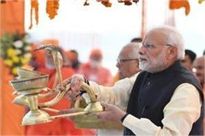 prime minister will lay the foundation stone of rs 1000 crore temple complex