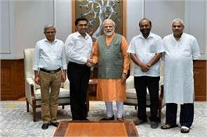 goa chief minister pramod sawant meets pm modi
