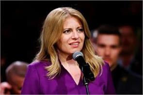 slovakia created history became the first female president of the country