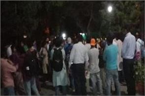 students at the house of vice chancellor in jnu