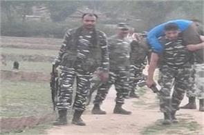 crpf jawan brought to the hospital on the shoulder