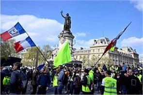 more than 7000 people participated in the yellow west movement in france