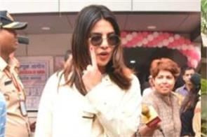 priyanka rekha and other stars step out to cast their votes