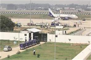 chandigarh international 24 hours at the airport flight operations today
