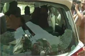 babul supriyo s car vandalised in asansol