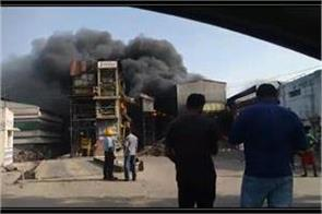 garbage plant s processing machine fire loss of millions