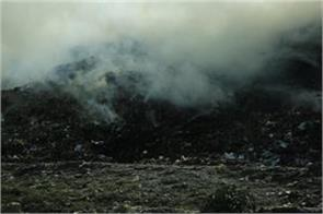 now the fire in the dumping ground garbage
