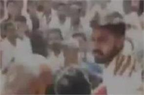 two groups of bjp workers clash during a rally