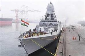 indian battle ships take part in chinese navy s fleet review pak miss it
