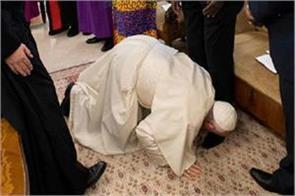 pope francis south sudan video viral