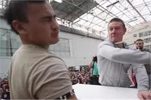 men participate in russia s first male slapping championship