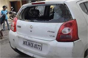 parking cars damaged by unknown persons in kathua