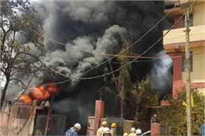 fire breaks out at a chemical factory in naraina area