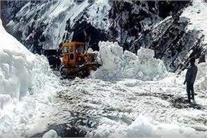 heavy snowfall in badrinath