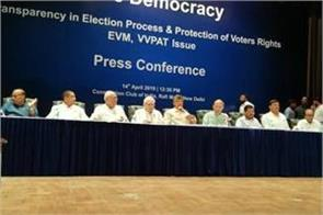 opposition parties again raised issue of tampering with evm