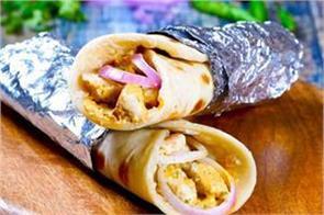 chicken chutney paratha roll