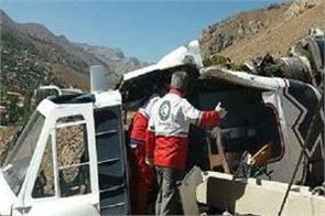one killed three injured in helicopter crash in iran