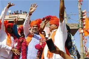 amit shah made roadshows in ahmedabad