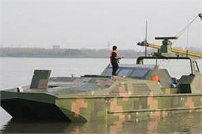 china develops world s first armed amphibious drone boat